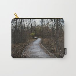 Wooden Winding Path Carry-All Pouch