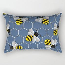 Bumbled Blue Rectangular Pillow