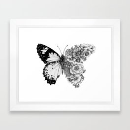 Butterfly in Bloom Framed Art Print