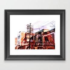 Toronto, Queen Street Framed Art Print