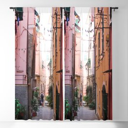 UNKNOWN PERSON STANDING ON ALLEYWAY Blackout Curtain