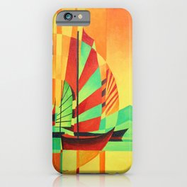 Chinese Junks Sail to Shore  iPhone Case
