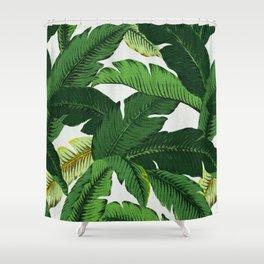 banana leaf palms Shower Curtain
