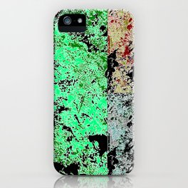 Grunge paint stains texture iPhone Case