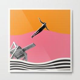 "Surreal Vintage Collage Art ""FEEL FREE"" By ARTERESTING Metal Print"