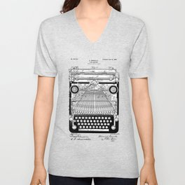 patent art Granville Type Writer 1900 Unisex V-Neck