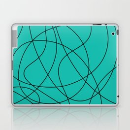 Lines Turquoise Laptop & iPad Skin