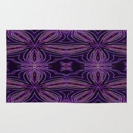 Colorful Purple Flowers Rug