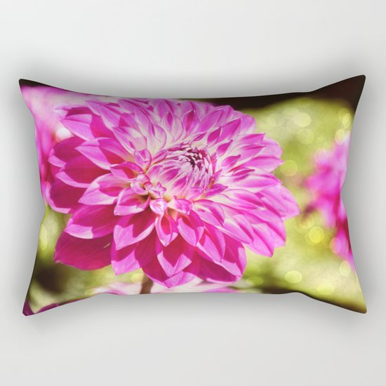 Pink dahlia on shiny day Rectangular Pillow