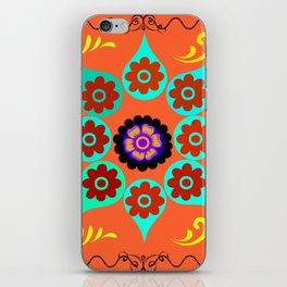 Talavera Tile Orange iPhone Skin