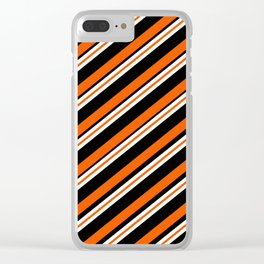 Team Colors ....orange,black, and white Clear iPhone Case