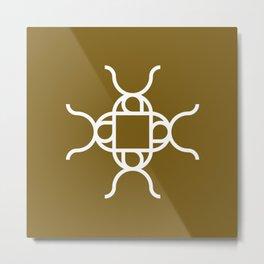 X Snowflake Patterm Metal Print