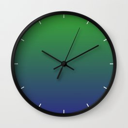 Ombre | Green and Blue Wall Clock