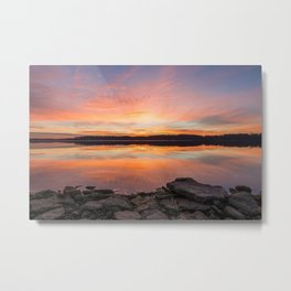 Sunrise at the Lake Metal Print