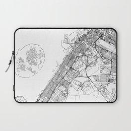 Dubai White Map Laptop Sleeve