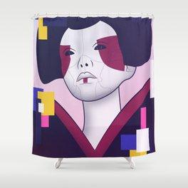 GitS Geisha Bot Shower Curtain