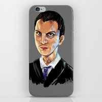 moriarty iPhone & iPod Skins featuring Jim Moriarty by Allie Morris