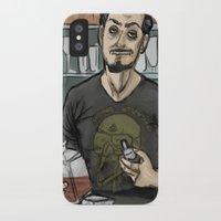 tony stark iPhone & iPod Cases featuring Tony Stark, Billionaire by Brizy Eckert