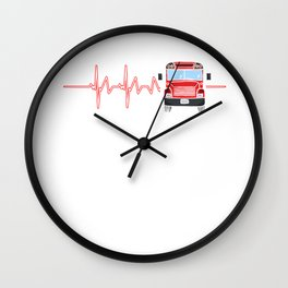 Bus Driver Heartbeat Driving Drivers Travel Car Lovers Gift Wall Clock