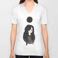 dot V-neck T-shirts featuring Dot by Ulla Thynell