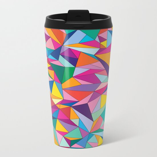 Triangles in color Metal Travel Mug