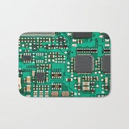 Electronic circuit board with processor Bath Mat