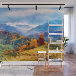 Autumn in the mountains Wall Mural