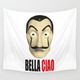 Dalí Mask La Casa de Papel Bella Ciao Wall Tapestry