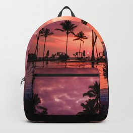 Paradise Sunset Tropical (Color) Backpack