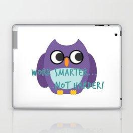 Work Smarter Owl - Purple Laptop & iPad Skin