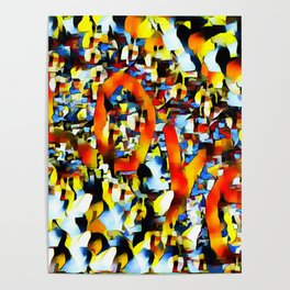 Love In Abstract Poster