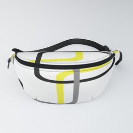 Geometric Rounded Rectangles Collage Yellow Fanny Pack