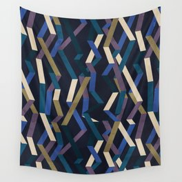 Straight Geometry Ribbons 2 Wall Tapestry