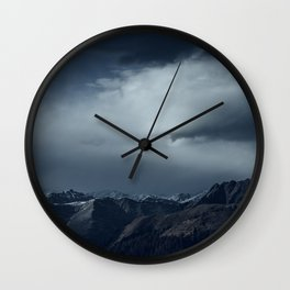 We wanted to sleep in the mountains Wall Clock