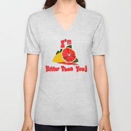 Bitter Grapefruit Unisex V-Neck