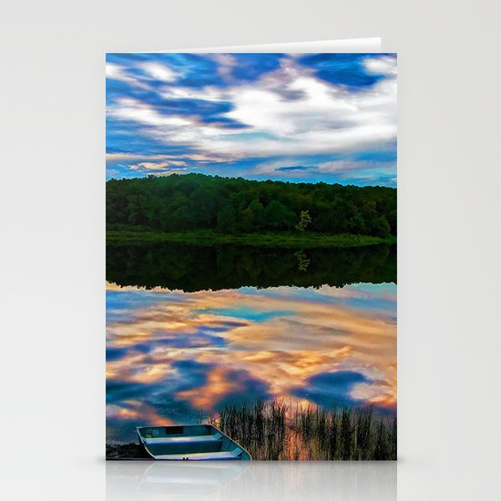 Evening Reflection Stationery Cards