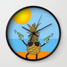 Sun's Out Guns Out Wall Clock