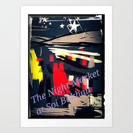 The Night Market at Soi Bakhau Art Print