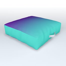 Violet Purple and Turquoise Ombre Outdoor Floor Cushion
