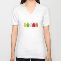 decal V-neck T-shirts featuring The Lineup by Charlene McCoy