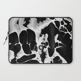 Black And White Wet Paint Modern Pattern Photography Laptop Sleeve