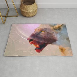 Feast of the Low Poly Lion Pride Rug