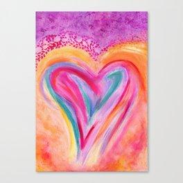 Heart Afire Canvas Print