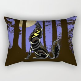Celtic Knot Howling Wolf Rectangular Pillow