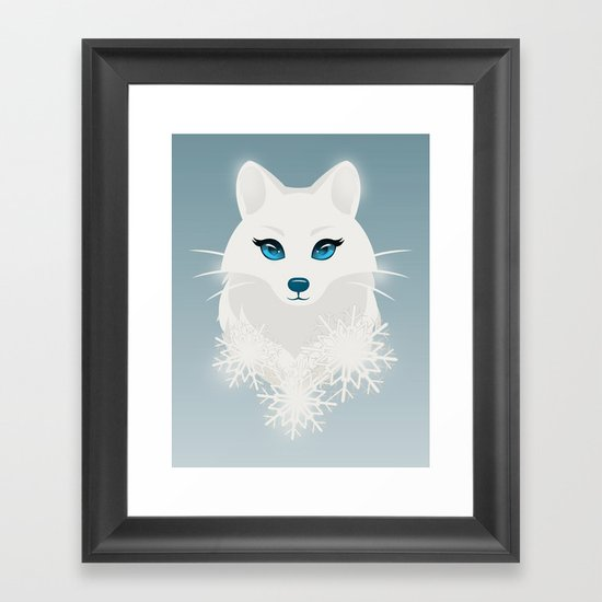 Arctic Fox Princess Framed Art Print
