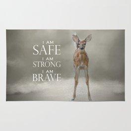 I am Safe I am Strong I am Brave Baby Deer Rug