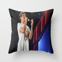 niall horan Throw Pillows featuring Niall Horan by Halle