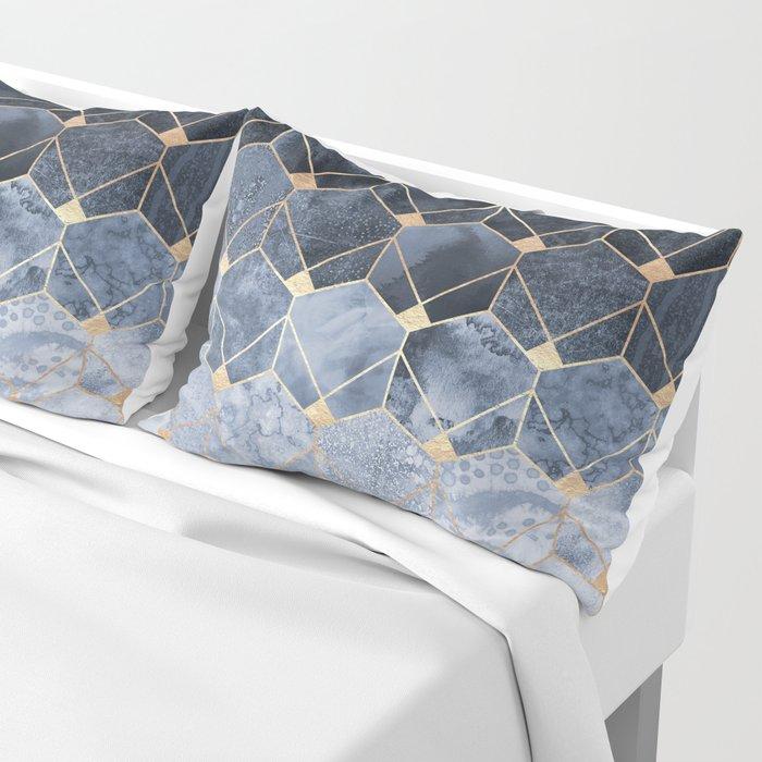 Blue Hexagons And Diamonds Pillow Sham