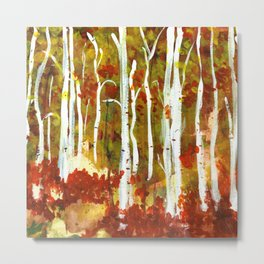 red trees - margit sokol Metal Print