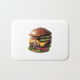 Cheeseburger Bath Mat